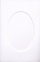 White Oval Small Needlework Cards 3.5x5.5 cross stitch - $5.00