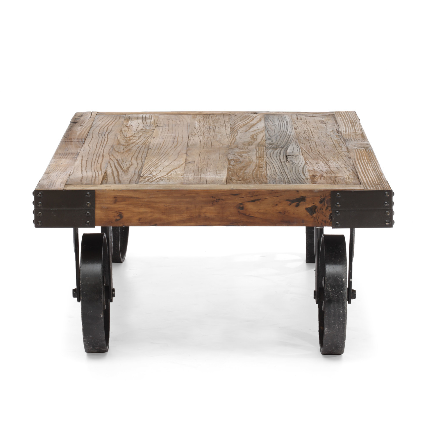 Restoration Hardware Factory Cart Style Coffee Table Tables