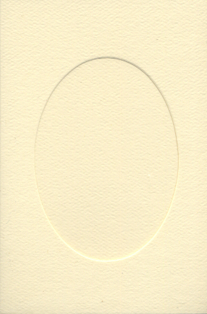 7421 ivory oval opening needlework card