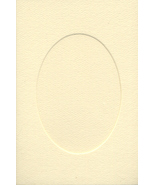 Ivory Oval Small Needlework Cards 3.5x5.5 cross stitch - $5.00