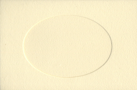 Ivory Oval Small Needlework Cards 3.5x5.5 cross stitch