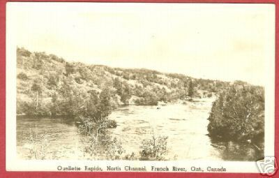 French River Ontario Postcard North Channel RPPC BJs