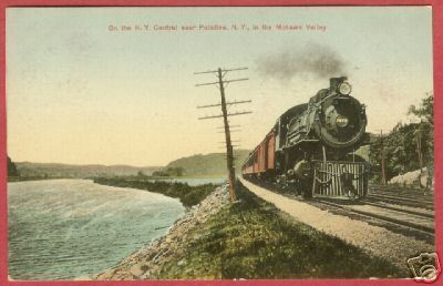 Primary image for NY CENTRAL TRAIN Engine Palatine New York 1911 BJs