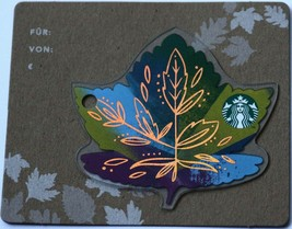 Starbucks Austria 2017 Fall Leaf Card Carved New - $9.95
