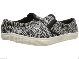 MIA TRACK WOMEN'S BLACK AZTEC SLIP ON/BOAT SHOE... - $29.69