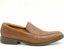 Clarks Men Slip On Loafers Size US 11.5M Brown Leather - $13.85