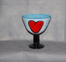 Kosta Boda Large Hearts Footed Enamel Bowl Hydman Vallien 7050242 Signed - $395.00