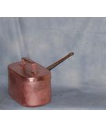 French Antique Daubière Braisière Copper Pan Chef Cuivre With Lid - $225.00