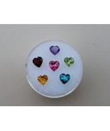 6 Natural Heart Gems 5mm each - $39.99