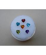 6 Natural Heart Gems 4mm each - $29.99