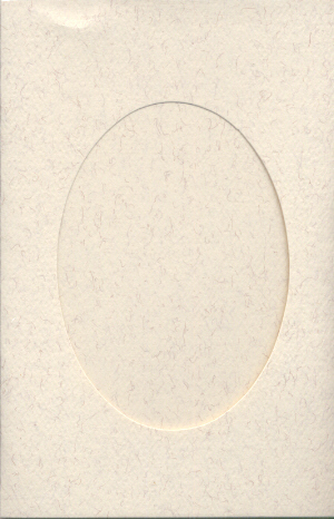 5119 parchment oval opening needlework card