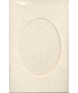 Parchment Oval Small Needlework Cards 3.5x5.5 cross stitch - $4.00