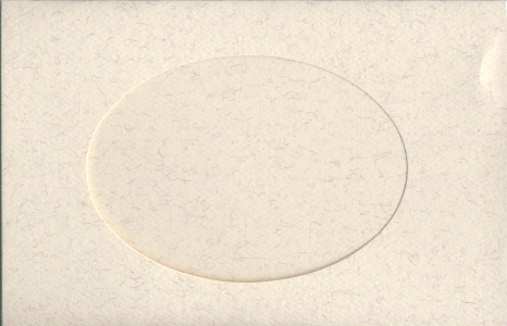 Parchment Oval Small Needlework Cards 3.5x5.5 cross stitch
