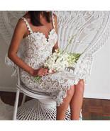 Fashion Women Party Bandage  Lace  Dress Celebrity V-neck Slash  BodyCon - $82.99+