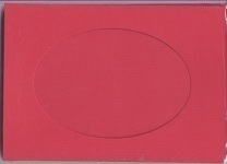 Red Oval Small Needlework Cards 3.5x5.5 cross stitch