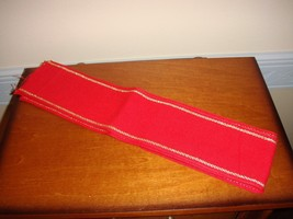 Cross Stitch Band Fabric Red With Gold Trim - $18.99