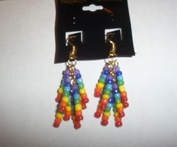 Hand Crafted Chakra Dangle Earrings Reiki Heali... - $20.00