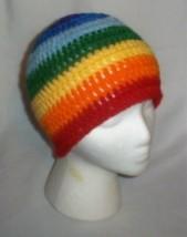 Hand Crochet ~ Ladies Skull Cap Beanie Hat Rain... - $25.00