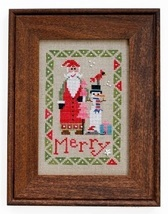 Wee One: Santa 2015 cross stitch chart Heart in Hand - $7.65