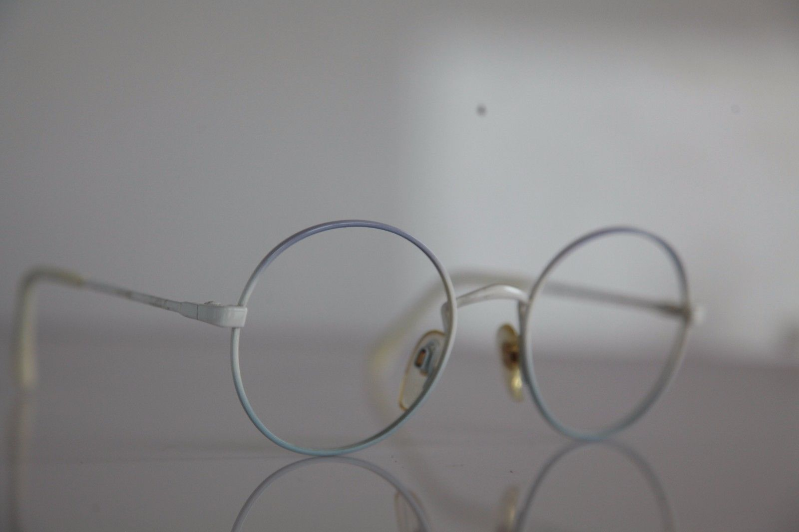 Vintage MENRAD Eyewear, White/ Blue Frame. Germany
