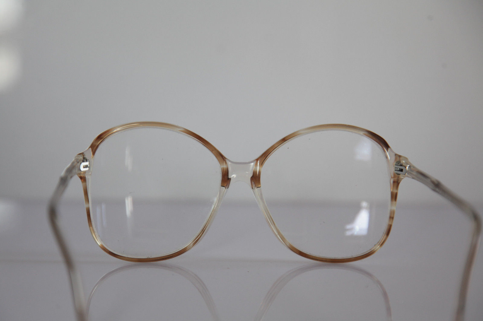 KANA Eyewear, Crystal Brown Frame, RX Able Clear Lenses Prescription. Germany