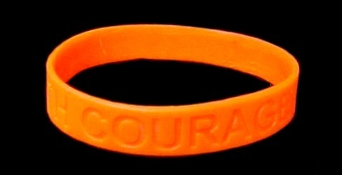 MS Multiple Sclerosis Lot of 50 Orange Awareness Bracelets Silicone Wristbands