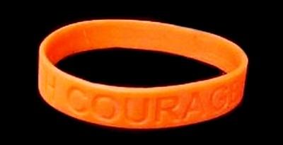 MS Multiple Sclerosis Lot of 50 Orange Awareness Bracelets Silicone Wristbands