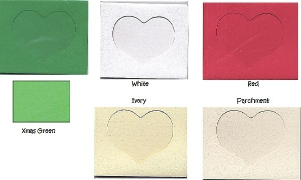 Ivory Heart Small Needlework Cards 3.5x5.5 cross stitch