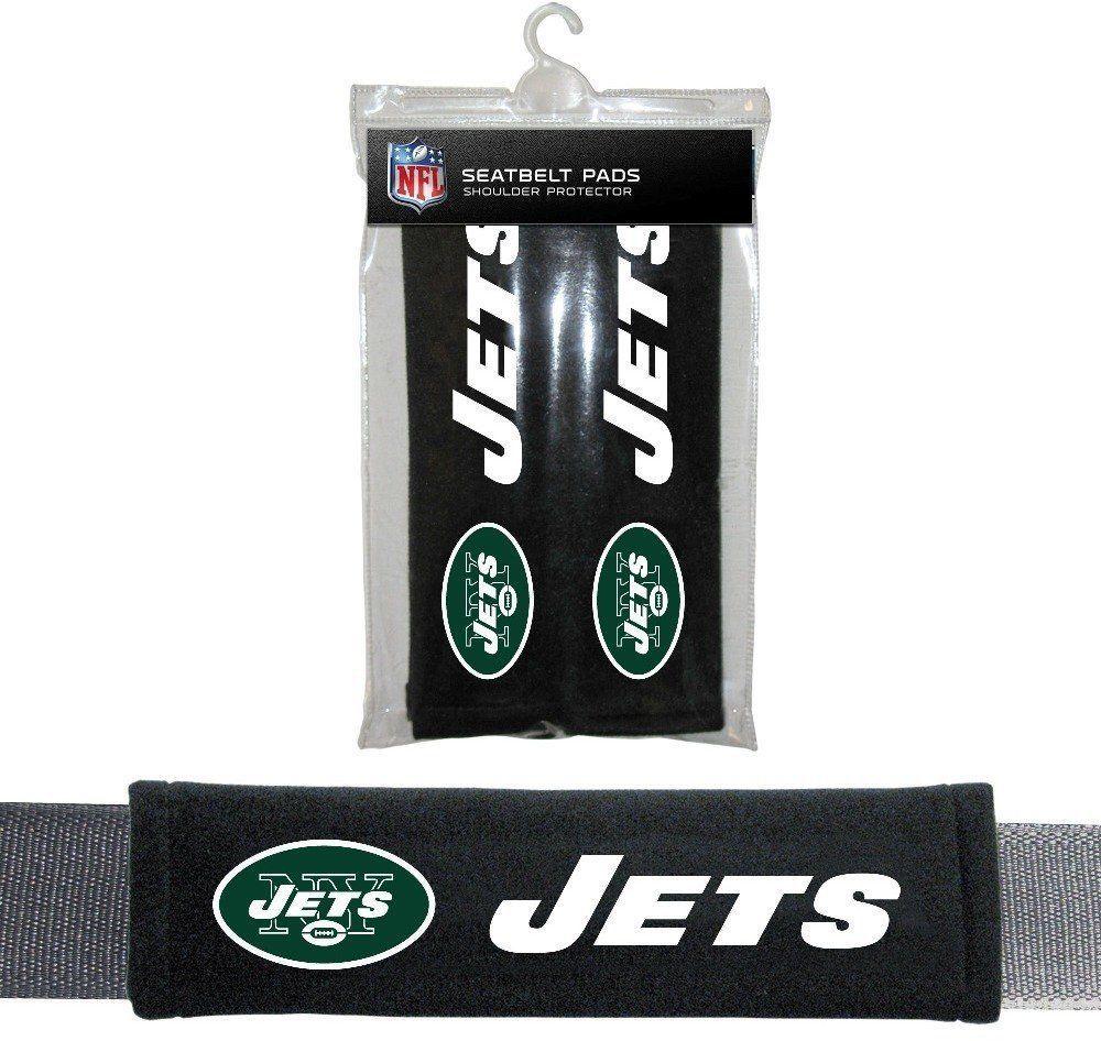 NEW YORK JETS 2 VELOUR SEAT BELT LAPTOP BAG SHOULDER PADS NFL FOOTBALL