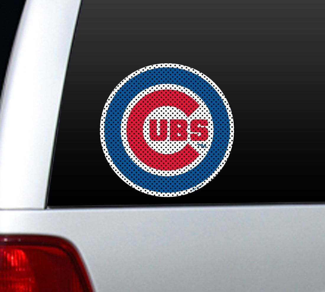 "*BIG* 12"" CHICAGO CUBS CAR HOUSE PERFORATED WINDOW FILM DECAL MLB BASEBALL"