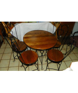 Solid Oak Ice Cream Parlor Set / Dinette Set  (BM) - $599.00