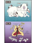 DISNEY 101 DALMATIANS SET OF SIX SOUVENIR SHTS - GAMBIA - $19.95