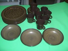 Vintage 18 Pc Set Franciscan China Pottery Brown Madeira California NICE - $123.75