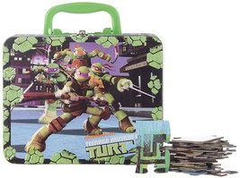 TEENAGE MUTANT NINJA TURTLES 48 PIECE PUZZLE WITH CARRYING CASE/LUNCH BO... - $6.99