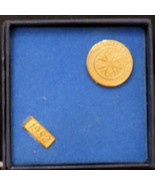 Vintage 1982 Presidents Club Sales Award Stick Pin Gold Plated 4 A design - $9.84