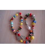 Multi Color, Multi Shape Acrylic Bead Necklace - $6.99