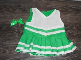 Cheer Leading Outfit for 18 inch Dolls Kelly Green White Doll Clothes - $9.95