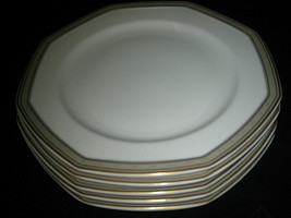 Mikasa Tudor Row dinner plates Y0080 Octagon Shape Excellent 5-pc lot - $45.99