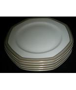Mikasa Tudor Row dinner plates Y0080 Octagon Shape Excellent 5-pc lot - $45.99