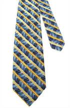 Jhane Barnes 100% Silk Tie - Blue, Navy & Gold - $18.00