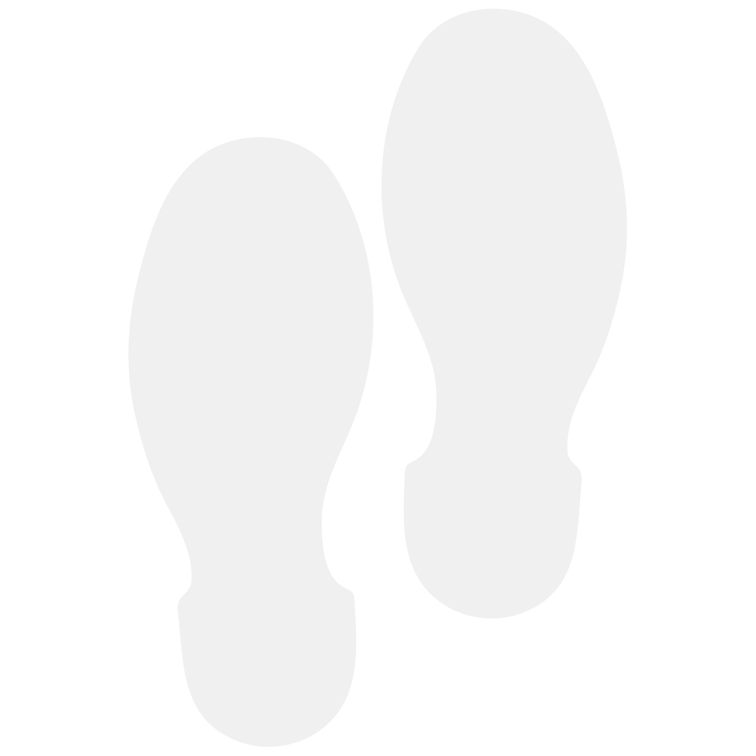 Primary image for LiteMark 9 Inch White Removable Shoe Print Decals for Floors and Walls 12 Pack