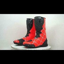 SPIDERMAN Red  Motorbike leather boots CE Approved  - $138.60