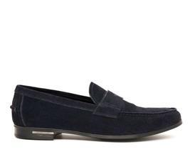Prada Mocassins Chaussures à Enfiler Daim Bleu Marine Taille 12.5 Neuf - $307.72