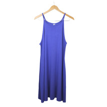 NWT Old Navy Solid Blue Knit Spaghetti Strap Cute Summer Midi dress size... - $34.99