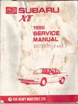1990 Subaru XT OEM Factory Engine and Transmission Manual Section 2 & 3 - $30.00