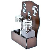 Rustic Iron Metal Cutout S&P Script Salt & Pepper Shaker Set image 2