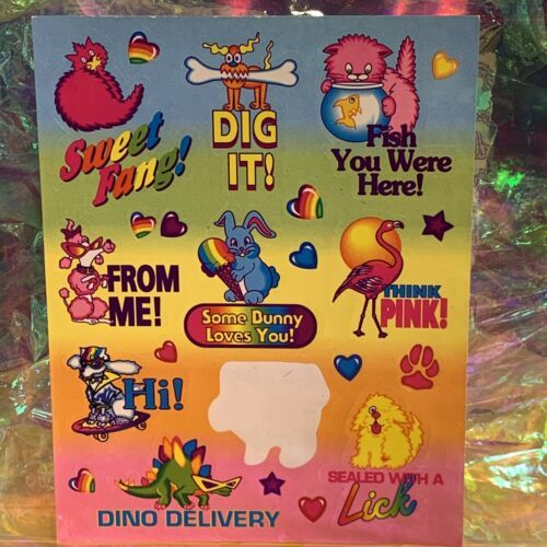 Almost Full Silly Senders Lisa Frank Stickers Valentine's Themed Playful Cheeky