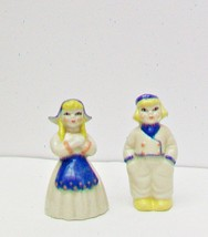 CERAMIC ARTS STUDIO Pair Dutch Boy Girl Salt Pe... - $10.48