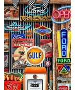 Gulf Neon Collage in Man Cave by Michael Fishel Metal Sign - $29.95
