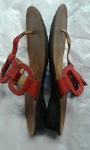 7 Paul Flop Leather size Munchen Thong 1 Sandals Red Flip Womens Green 2 8q87nBxR